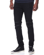 Men - Ripped/Zipped Moto Jean