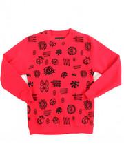 Activewear - L/S Fleece Printed Pullover Sweatshirt (8-20)