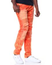 SMOKE RISE - Twill Gap Biker Jeans