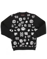 Outerwear - L/S Fleece Printed Pullover Sweatshirt (8-20)