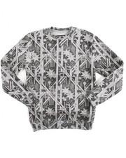 Sizes 8-20 - Big Kids - L/S Fleece Printed Pullover Sweatshirt (8-20)