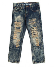Akademiks - Akademiks Snow Wash Slim Fit Rip & Repair Denim Jean (8-20)