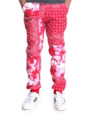 Basic Essentials - Bandana / Tie - Dye Fleece Joggers