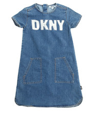 Girls - Shirttail Denim Dress (7-16)