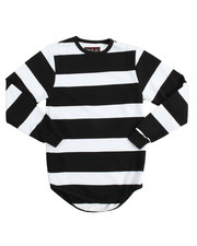 Activewear - L/S French Terry Yarn-Dyed Stripe Sweatshirt (8-20)