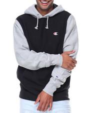 Men - Reverse Weave Colorblock Hood