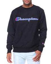 Sweatshirts & Sweaters - Reverse Weave Full Script Crew Sweatshirt