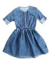 Dresses - Ruffle Denim Dress (7-16)