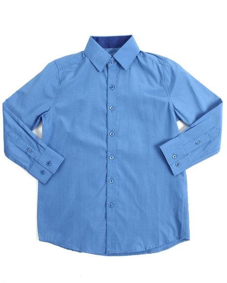 Arcade Styles - Long Sleeve Printed Woven Shirt (8-20)