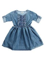 Girls - Ruffle Denim Dress (4-6X)