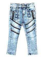 Sizes 2T-4T - Toddler - Fashion Cut/Sew Zipper Jean (2T-4T)