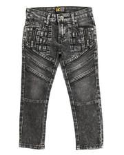 Bottoms - Fashion Cut/Sew Zipper Jean (4-7)