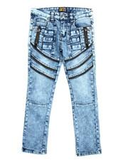 Bottoms - Fashion Cut/Sew Zipper Jean (8-20)