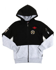 Hoodies - L/S Patch Full Zip Fleece Hoodie (8-20)