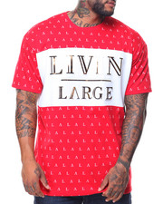 Men - S/S Livin Large Crew Neck Tee (B&T)