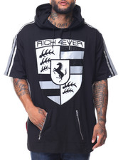 Men - S/S Rich 4 Ever Foil/Rhinestones Hoodie