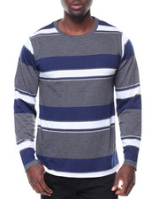 Men - L/S Stripe Crew