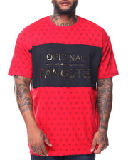 Men - S/S Original Gangster Crew Neck Tee (B&T)