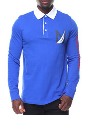 Men - L/S Logo Rugby Polo