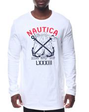 Nautica - L/S Nautica Logo Tee