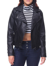 Steve Madden - Faux Leather Moto Jacket