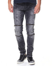 Buyers Picks - Daredevil Zipper Trimmed Ultra Skinny Biker Jean
