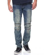 Jeans & Pants - Pipe Jean Gold Zipper And Studs Washed Jean