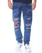 Red Detail Cargo Jean