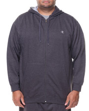 Big & Tall - L/S Full Zip Fleece Hoodie (B&T)-2135154