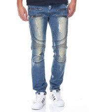 Jeans & Pants - Zipper And Paint Motto Jeans