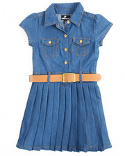 Dresses - Pleated Chambray Dress (4-6X)