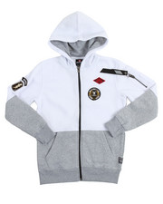 Southpole - L/S Patch Full Zip Fleece Hoodie (8-20)