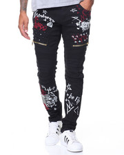 Buyers Picks - Studded Graffiti Jeans