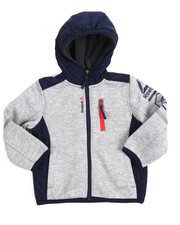 Reebok - Hooded Colorblock Fleece Jacket (2T-4T)