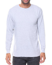 Thermals - Solid L/S Crewneck Thermal Top-2136416