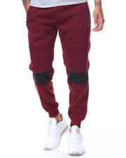 Jeans & Pants - Contrast Color Zipper Moto Joggers
