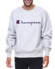 Men - Reverse Weave Full Script Crew Sweatshirt