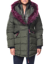 Canada Weather Gear - Asym Zip Faux Fur Lined Hood Jacket