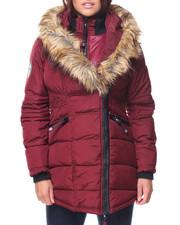 Canada Weather Gear - Asym Zip Faux Fur Lined Hood Jacket