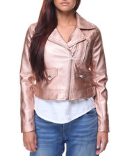Fashion Lab - Faux Leather Moto Jacket