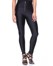 Leggings - Metallic Zip Hi Waist Legging