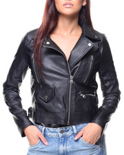 Women - Faux Leather Moto Jacket-2137242