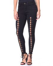 Fashion Lab - Lace Up Front Jean