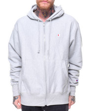 "Champion - Reverse Weave Full Zip Left Chest ""C"" Logo Hoody"