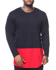 Big & Tall - L/S Rounded Bottom Color Block Tee (B&T)