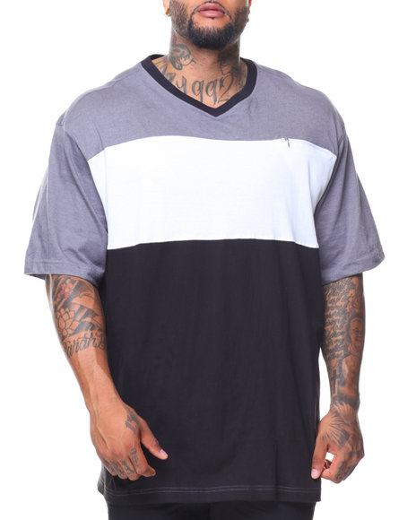 Rocawear - S/S Crafty Knit V-neck Tee (B&T)