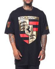 Men - S/S Rich Hustle Rhinestone Tee (B&T)