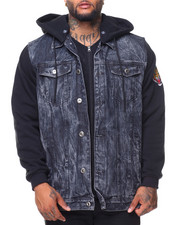 Men - Hooded Denim Jacket (B&T)