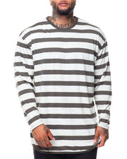 Men - L/S Scattered Rounded Bottom Tee (B&T)