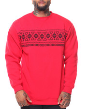 Pullover Sweatshirts - Fleece Crew Neck Pullover Sweatshirt (B&T)